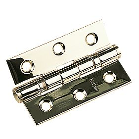 Ball Bearing Hinge Electro Brass 76 x 51mm Pack of 2