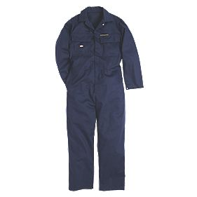 "Dickies Proban Fire-Retardant Coverall Navy Medium 40-42"" Chest 34-36"" L"