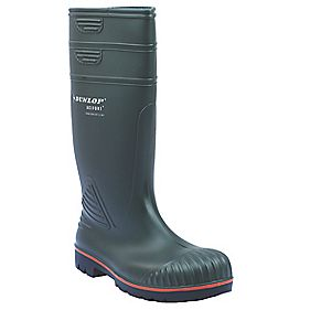 Dunlop Acifort A442631 Heavy Duty Safety Wellington Boots Green Size 7