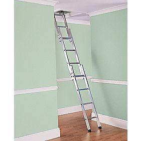 Lyte Deluxe SFDLEL3 3-Section Loft Ladder 12 Rungs
