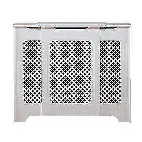 MDF Adjustable Radiator Cabinet White 975-1420 x 220 x 918mm