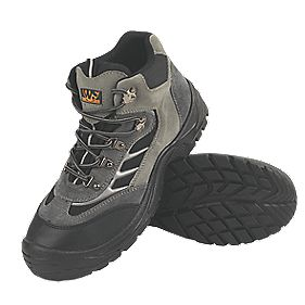 Worksite Industrial Wear Hiker Safety Boots Grey Size 10