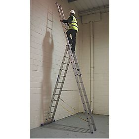 Zarges 40230 Aluminium Combination Ladder 3 x 12 Rungs 8.6m