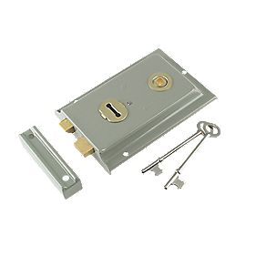 Yale Century Rim Sash Lock Grey 150 x 100mm