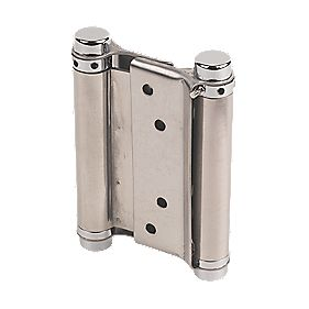 Eclipse Spring Hinges Satin Stainless Steel 43 x 103mm Pack of 2