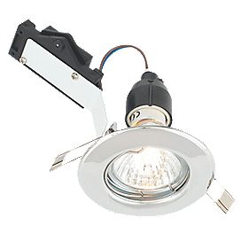 LAP Fixed Round Mains Voltage Downlight Polished Chrome 240V
