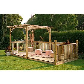 Forest Larchlap Ultima Pergola & Patio Deck Kit 4.8 x 2.4 x 2.4m