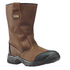 Stanley Waterproof Rigger Safety Boots Brown Size 7