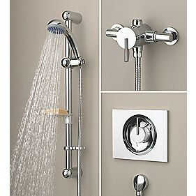 Bristan Sonique Thermostatic Mixer Shower Flexi Built-In & Exposed Chrome