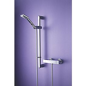 Bristan Quadrato Thermostatic Bar Mixer Shower Exposed Chrome