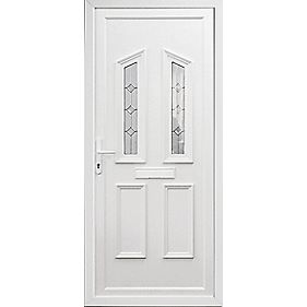 Somerton 2-Light uPVC Front Door RH 920 x 2085mm