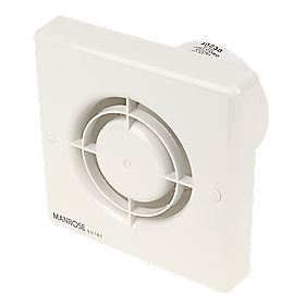 Manrose QF100P 5W Quiet Bathroom Axial Extractor Fan with Pullcord