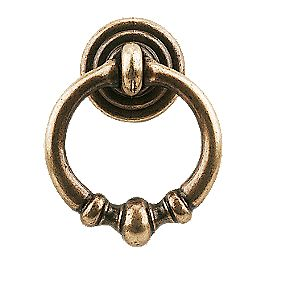 Ring Pendant Antique Brass 34mm Ring Diameter Pack of 5
