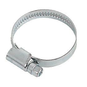 Blue Zinc-Plated Hose Clips 25-40mm Pack of 10