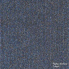 Interface Contract Ribbed Carpet Tiles Cobalt Pack of 20