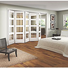 Jeld-Wen Shaker 4-Panel Interior Room Divider Primed 2052 x 3163mm