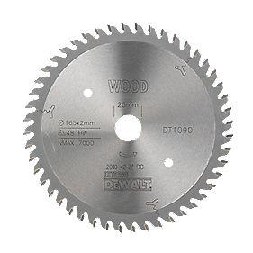 DeWalt DT1090-QZ Extreme Plunge Saw Blade 165 x 20mm 48T