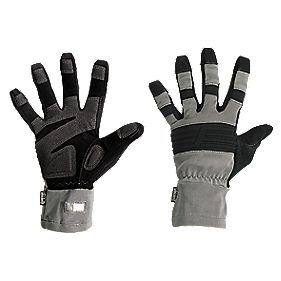 Snickers Secure Handling Craftsman Gloves Grey Large