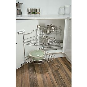 Hafele Swing-Out Corner Base Unit Chrome