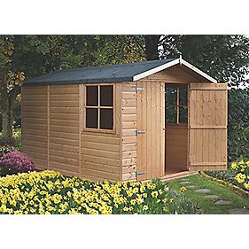 Shire Shiplap Apex Shed 10 x 7 x 7' (Nominal)