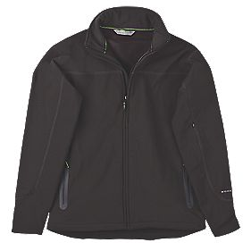 "Work It Scafell Soft Shell Jacket Black X Large 48-50"" Chest"