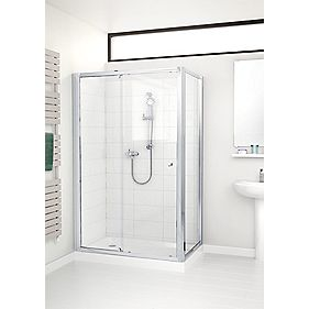 Mira Flight ACE Shower Enclosure Side Panel Silver 800mm