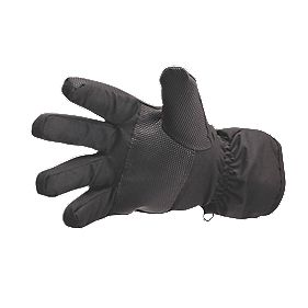 Non Safety Waterproof Ski Gloves Black One Size Fits All