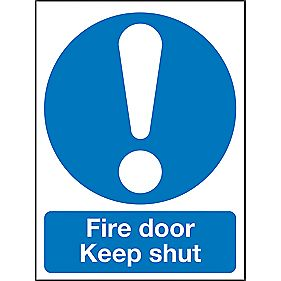 """Fire Door Keep Shut"" Sign 120 x 90mm"