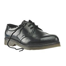 Sterling Steel Cushion Sole Safety Shoes Black Size 5