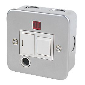 13A Switched Fused Connection Unit + Neon & Flex Outlet Metal-Clad