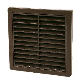 Manrose Louvre Vent Brown 125mm x 160mm