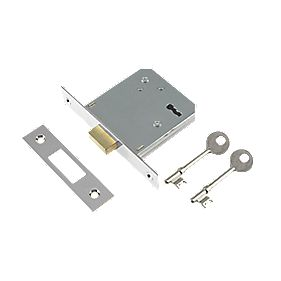 "Century 3-Lever Mortice Deadlock Chrome Plated 3"" / 76mm"