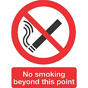 """No Smoking Beyond This Point"" Sign 200 x 150mm"
