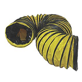 Stanley PVC Flexible Ducting Black / Yellow 5m x 300mm