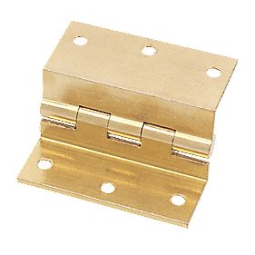 Stormproof Hinge Self Colour Brass 63 x 55mm Pack of 2