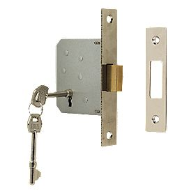"ERA 3-Lever Mortice Deadlock Chrome Effect "" / 64mm"