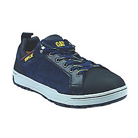 Cat Brode Hi Safety Shoes Navy Size 8
