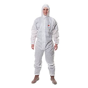 "3M 4515 Type 5/6 Disposable Protective Coverall White Large 39-43"" Chest"