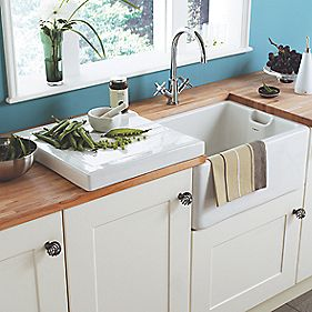 Astracast Belfast Ceramic Reversible 1 Bowl Kitchen Sink