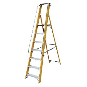Lyte Platform Ladder with Safety Handrails 7-Tread 2.1m