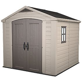 Keter Apex Shed Plastic 8 x 8 x 7' (Nominal)
