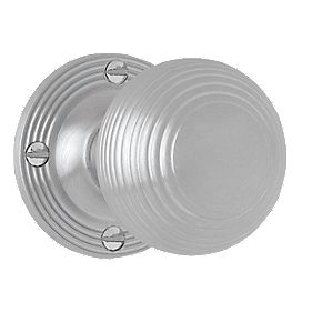 Jedo Door Handle Pair Satin Chrome 60mm