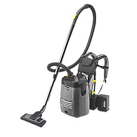 Karcher BV5/1Bp 1300W 5Ltr Battery-Powered Back Pack Vacuum Cleaner 25.2V