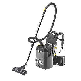 Karcher BV5/1Bp 1300W 5Ltr Battery-Powered Back Pack Vacuum Cleaner 25.2V