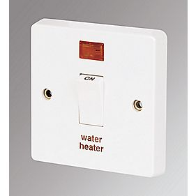 Crabtree 20A DP Switch & Neon & Water Heater Label