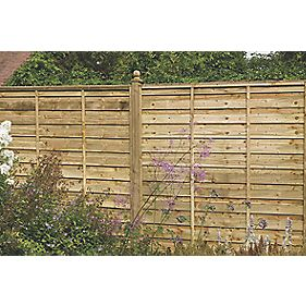 Forest Larchlap Solway Fence Panels 1828 x 1828mm Pack of 5