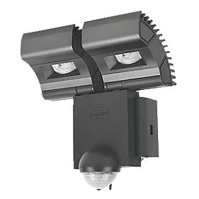 Osram Noxlite LED Twin Spotlight with Sensor 16W Black