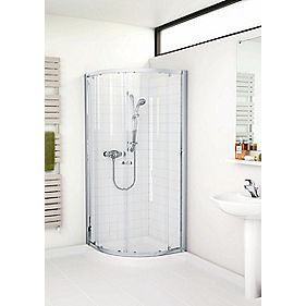 Mira Flight ACE Quadrant Shower Enclosure Sliding Door Silver 900mm