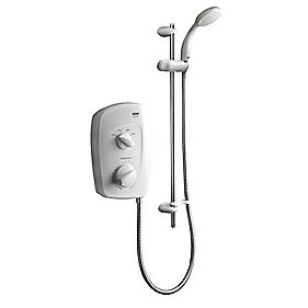 Mira Vista Manual Electric Shower White / Chrome 8.5kW