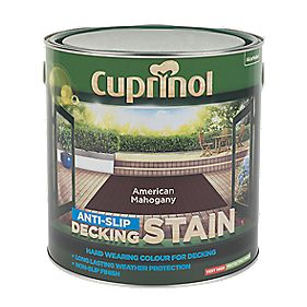 B and Q Ultra Tough Decking Stain American Mahogany 2.5Ltr